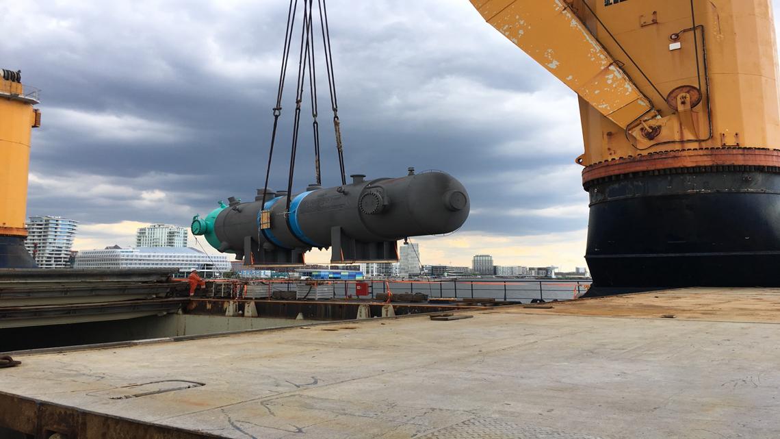 AGL Handles 203 Tons Boiler FOB Hamburg